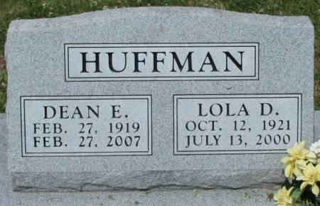 GANTT HUFFMAN, LOLA DARLENE - Madison County, Iowa | LOLA DARLENE GANTT HUFFMAN