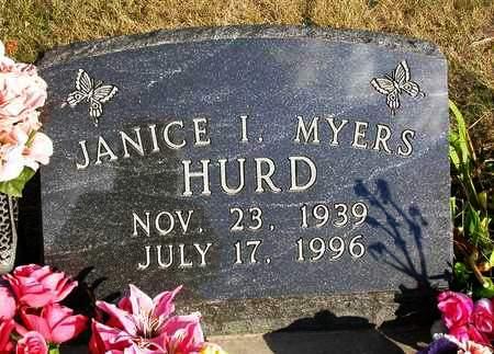 MYERS HURD, JANICE IRENE - Madison County, Iowa | JANICE IRENE MYERS HURD
