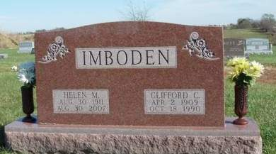 IMBODEN, HELEN MARY - Madison County, Iowa | HELEN MARY IMBODEN