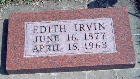 IRVIN, EDITH - Madison County, Iowa | EDITH IRVIN