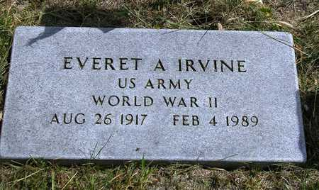IRVINE, EVERET A. - Madison County, Iowa | EVERET A. IRVINE