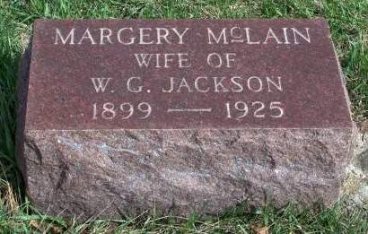 MCLAIN JACKSON, MARGERY RUTH - Madison County, Iowa | MARGERY RUTH MCLAIN JACKSON