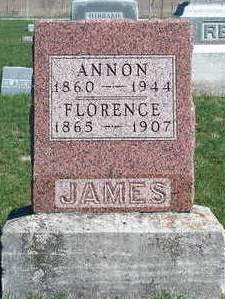 JAMES, FLORENCE UNITY - Madison County, Iowa | FLORENCE UNITY JAMES
