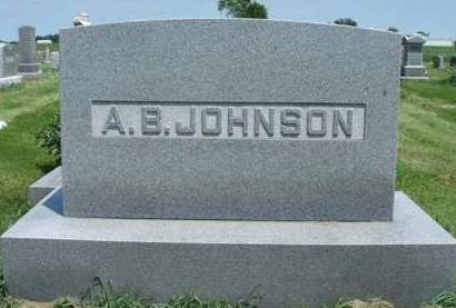 JOHNSON, ALBERT BARNES - Madison County, Iowa   ALBERT BARNES JOHNSON
