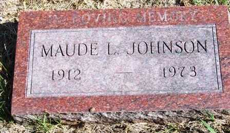 JOHNSON, MAUDE L. - Madison County, Iowa | MAUDE L. JOHNSON