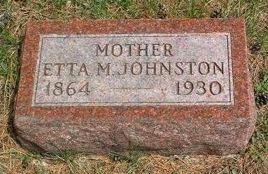 JOHNSTON, ETTA MAY - Madison County, Iowa | ETTA MAY JOHNSTON