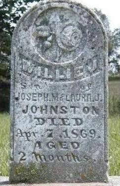 JOHNSTON, WILLIE J - Madison County, Iowa   WILLIE J JOHNSTON