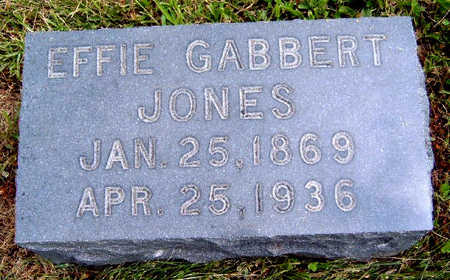 GABBERT JONES, EFFIE E. - Madison County, Iowa | EFFIE E. GABBERT JONES