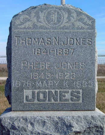 JONES, PHEBE - Madison County, Iowa | PHEBE JONES