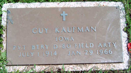 KAUFMAN, GUY - Madison County, Iowa | GUY KAUFMAN