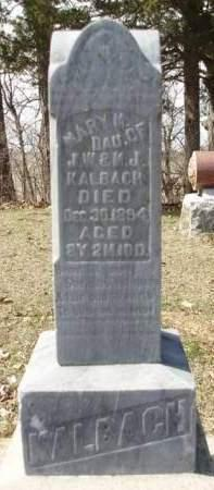 KALBACH, MARY MAYME - Madison County, Iowa | MARY MAYME KALBACH