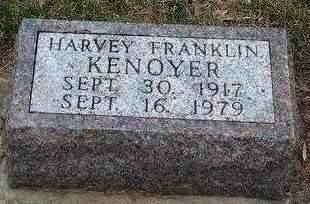 KENOYER, HARVEY FRANKLIN - Madison County, Iowa   HARVEY FRANKLIN KENOYER
