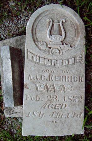 KERRICK, THOMPSON S. - Madison County, Iowa   THOMPSON S. KERRICK