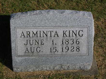 KINCAID KING, ARMINTA - Madison County, Iowa | ARMINTA KINCAID KING