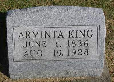 KING, ARMINTA - Madison County, Iowa | ARMINTA KING