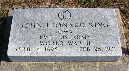KING, JOHN LEONARD - Madison County, Iowa | JOHN LEONARD KING