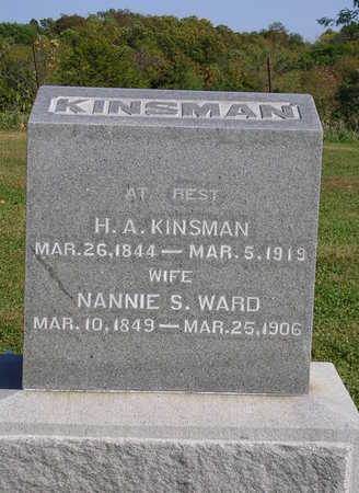 WARD KINSMAN, NANCY SOPHIA (NANNIE) - Madison County, Iowa | NANCY SOPHIA (NANNIE) WARD KINSMAN