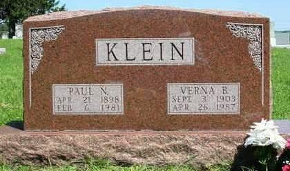 KLEIN, VERNA B. - Madison County, Iowa | VERNA B. KLEIN