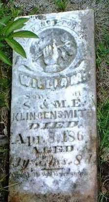 KLINGENSMITH, WILLIAM - Madison County, Iowa | WILLIAM KLINGENSMITH