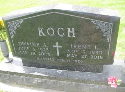 REHBEIN KOCH, IRENE LOUISE - Madison County, Iowa | IRENE LOUISE REHBEIN KOCH