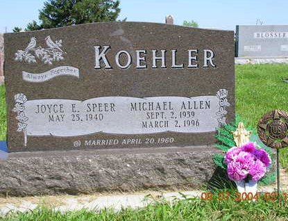 SPEER KOEHLER, JOYCE E. - Madison County, Iowa | JOYCE E. SPEER KOEHLER