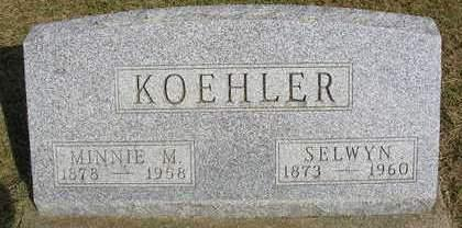 KOEHLER, MINNIE M. - Madison County, Iowa | MINNIE M. KOEHLER