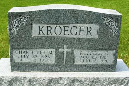 KROEGER, RUSSELL G. - Madison County, Iowa | RUSSELL G. KROEGER