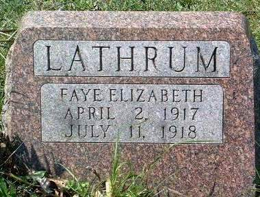 LATHRUM, FAYE ELIZABETH - Madison County, Iowa | FAYE ELIZABETH LATHRUM