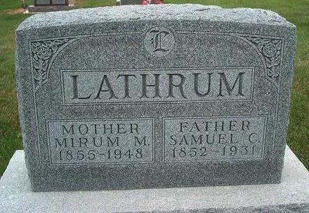 LATHRUM, SAMUEL C. - Madison County, Iowa | SAMUEL C. LATHRUM