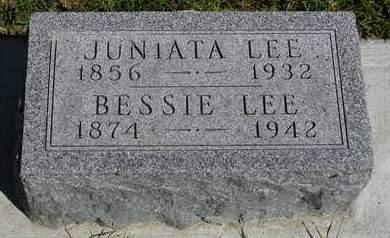 LEE, BESSIE - Madison County, Iowa | BESSIE LEE