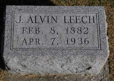 LEECH, JOHN ALVIN - Madison County, Iowa | JOHN ALVIN LEECH