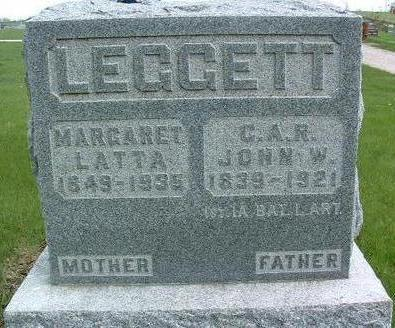 LATTA LEGGETT, MARGARET - Madison County, Iowa | MARGARET LATTA LEGGETT