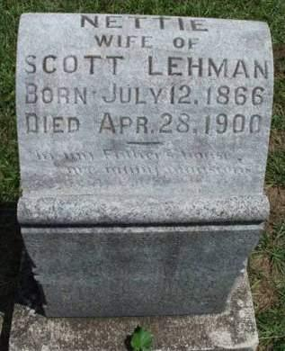 LEHMAN, NETTIE - Madison County, Iowa | NETTIE LEHMAN