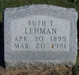 LEHMAN, RUTH TOWNSEND - Madison County, Iowa | RUTH TOWNSEND LEHMAN
