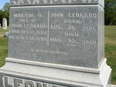 LEONARD, MINERVA D. - Madison County, Iowa | MINERVA D. LEONARD