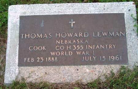 LEWMAN, THOMAS HOWARD - Madison County, Iowa | THOMAS HOWARD LEWMAN