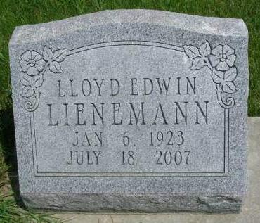 LIENEMANN, LLOYD EDWIN - Madison County, Iowa   LLOYD EDWIN LIENEMANN