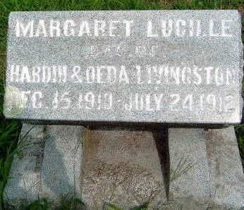 LIVINGSTON, MARGARET LUCILLE - Madison County, Iowa   MARGARET LUCILLE LIVINGSTON