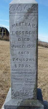 LOGSDON, MARTHA M. - Madison County, Iowa | MARTHA M. LOGSDON