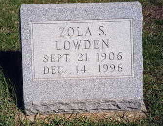 LOWDEN, ZOLA FERN - Madison County, Iowa | ZOLA FERN LOWDEN