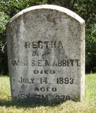 MABBITT, BERTHA - Madison County, Iowa | BERTHA MABBITT