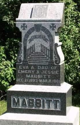 MABBITT, EVA ANABELL - Madison County, Iowa | EVA ANABELL MABBITT