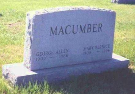 MACUMBER,, MARY BERNICE - Madison County, Iowa | MARY BERNICE MACUMBER,