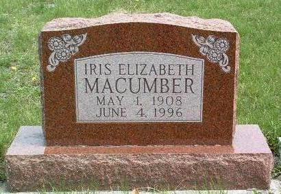 MACUMBER, IRIS ELIZABETH - Madison County, Iowa | IRIS ELIZABETH MACUMBER