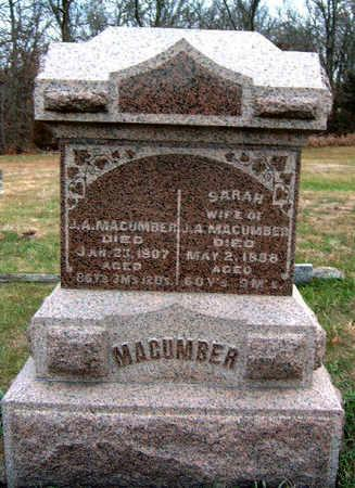 MACUMBER, SARAH M. - Madison County, Iowa | SARAH M. MACUMBER