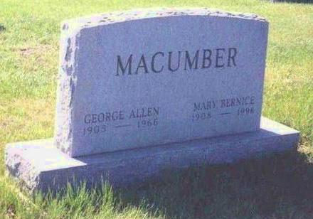 WILKINSON MACUMBER, MARY BERNICE - Madison County, Iowa | MARY BERNICE WILKINSON MACUMBER