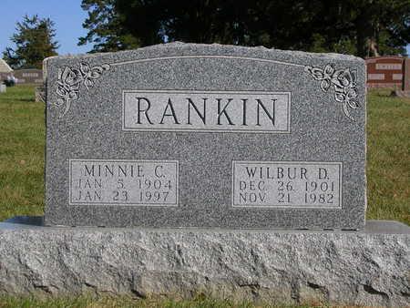 MALONE RANKIN, MINNIE C. - Madison County, Iowa   MINNIE C. MALONE RANKIN