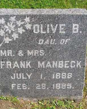 MANBECK, OLIVE B. - Madison County, Iowa | OLIVE B. MANBECK