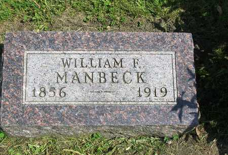 MANBECK, WILLIAM FRANKLIN - Madison County, Iowa | WILLIAM FRANKLIN MANBECK