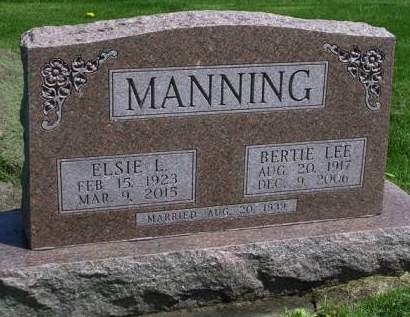 MANNING, BERT LEE (BERTIE) - Madison County, Iowa | BERT LEE (BERTIE) MANNING